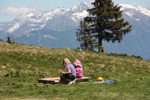 Sandspielen bei der Rossbrandhütte