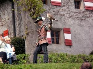 Flugschau auf der Burg Hohenwerfen