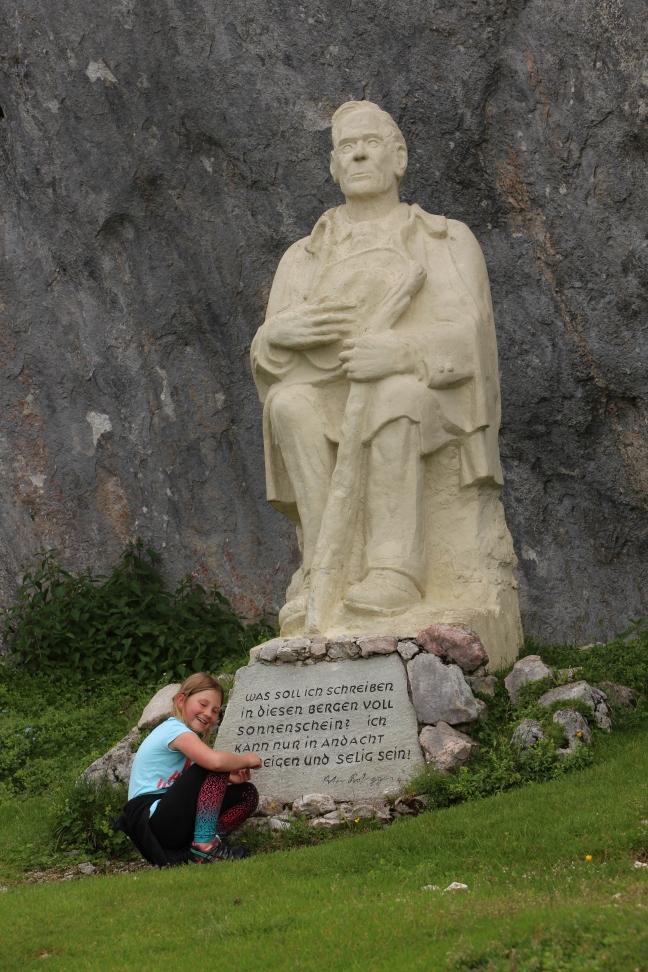 Peter Rosegger Denkmal am Weg zum Stoderzinken