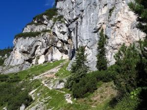 steiler Pfad zum Silberkarsee