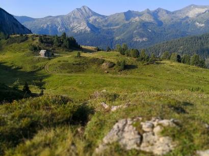 Blick auf die faszinierende Bergwelt der Tauern