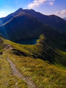 Blick von der Gollitschspitze auf den Twenger Almsee
